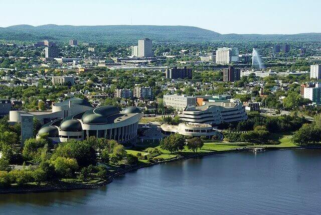 Áreas urbanas en Ottawa