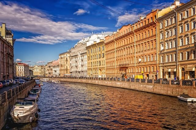 Mudanzas internacionales a San Petersburgo