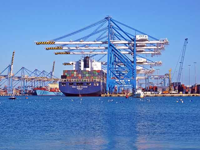 Amplia flota para transporte de contenedores marítimos
