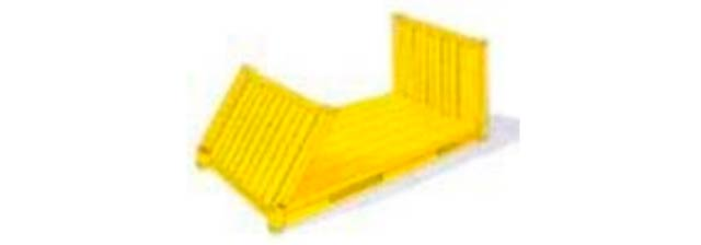 Contenedor collapsible 20´ FLAT TRACK